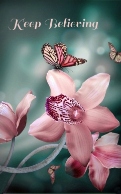 Butterfly pink flowers
